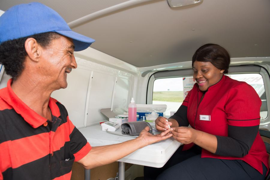 Truck Drivers get free health screenings