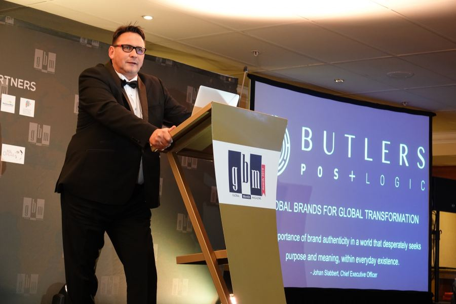 Johan Slabbert, CEO of Butlers POS+ Logic, delivered a keynote address at the 2019 Global Brands Magazine Awards