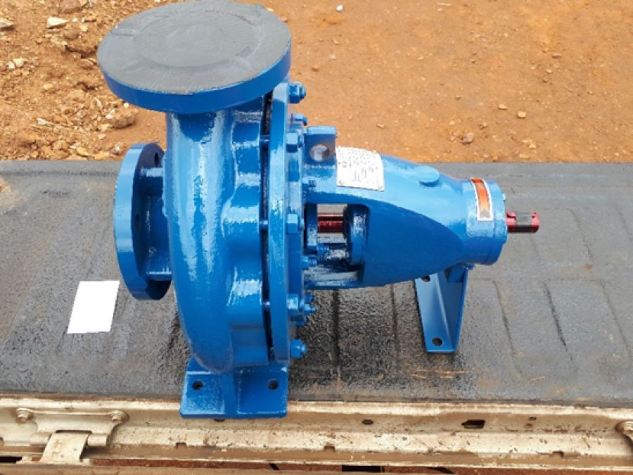 The MRS installed closed-coupled AIX 65/26 - Single Stage End Suction Centrifugal Pump