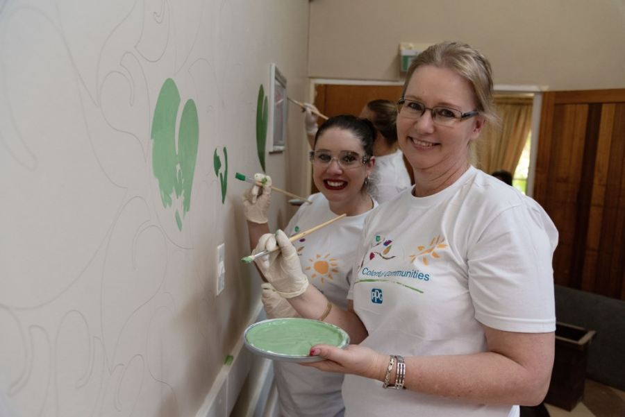 PPG and Prominent Paints Add Colour & Life to the Paul Jungnickel Home for Adults with Disabilities