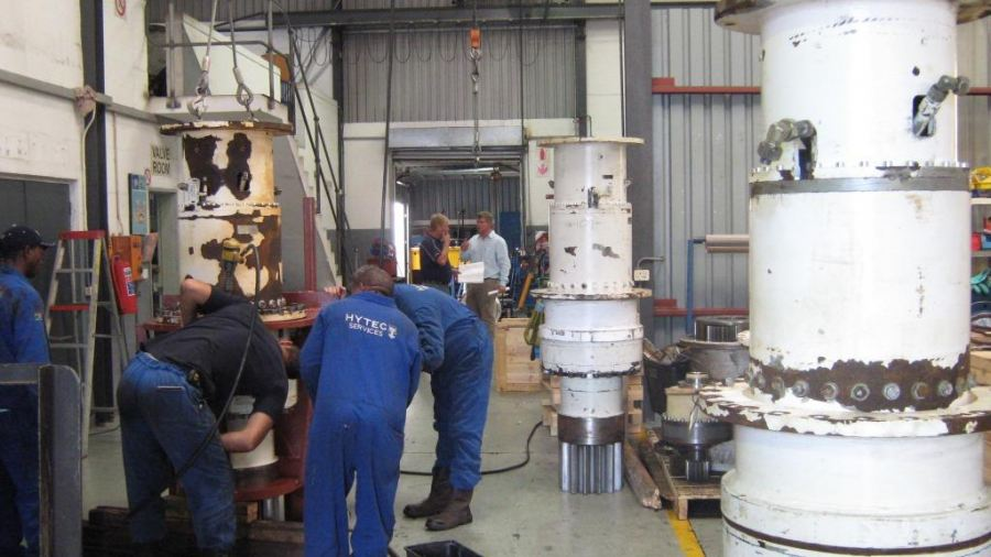 A ZOLLERN gearbox refurbishment underway at Hytec South Africa in the Cape Region.