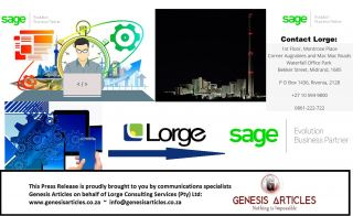 Feb 2017: Lorge-Changing the Game with SAGE Evolution - Genesis Articles Reports - Johannesburg - South Africa