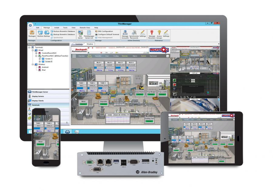 VersaView 5200 thin client portfolio from Rockwell Automation helps simplify management of devices and users