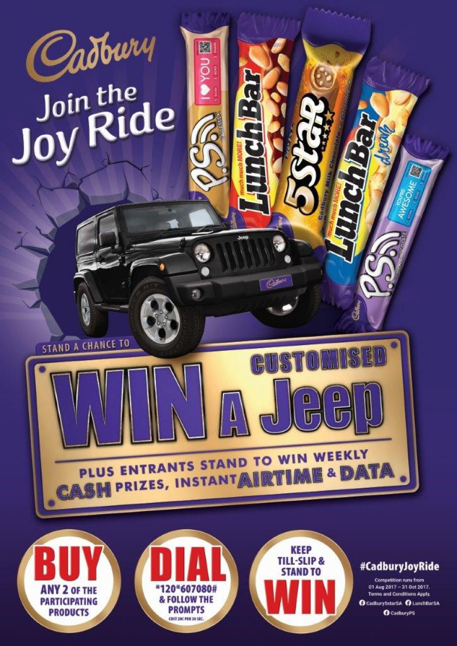 Exceptional Join The Joyride With Cadbury For A Chance To Win A CUSTOMISED Jeep Wrangler!  #