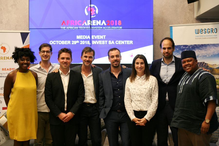 From left to right: Danai Musandu, Investment Associate, Goodwell Investments BV; Alexis Grosskopf, COO & Centre Manager at French South African Tech Labs; James Milne, Head: Investment Promotion, Wesgro; Christophe Viarnaud, CEO of AfricArena and digital firm Methys; Thomas Pays, Co-founder and CEO, iPay; Kerry Petrie, General Manager, Silicon Cape; Thomas van Halen, Investor Relations and Research Lead, VC4A; Vuyisa Qabaka, Co-founder and Director, Uprise Africa