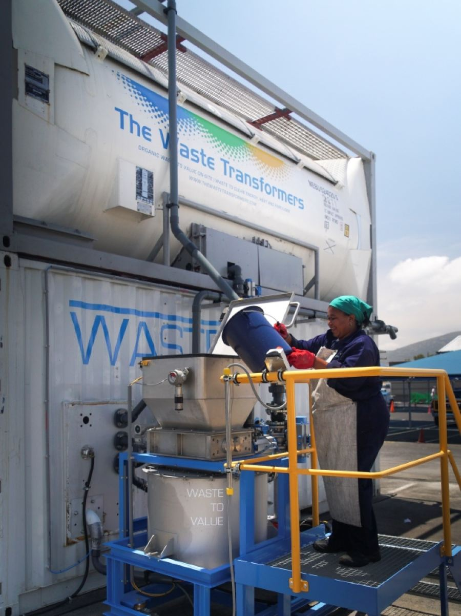 The Waste Transformers technology at N1 City in Cape Town