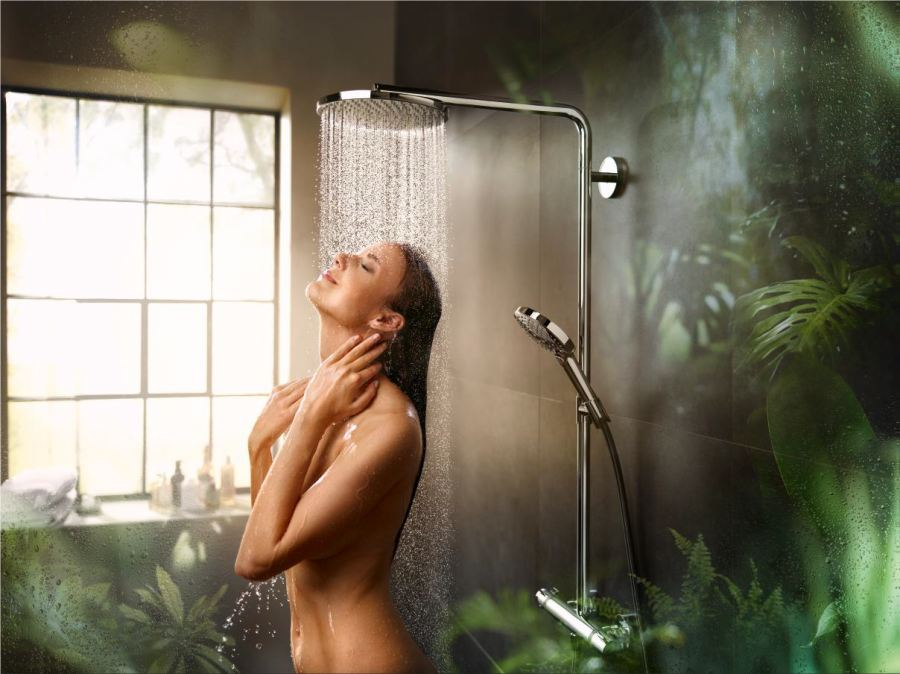 Experience purification with hansgrohe's PowderRain technology