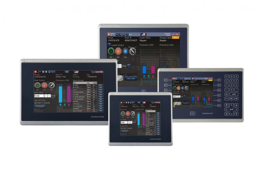The PanelView 5510 terminal was designed for users needing a high degree of                   integration between their HMI and controller