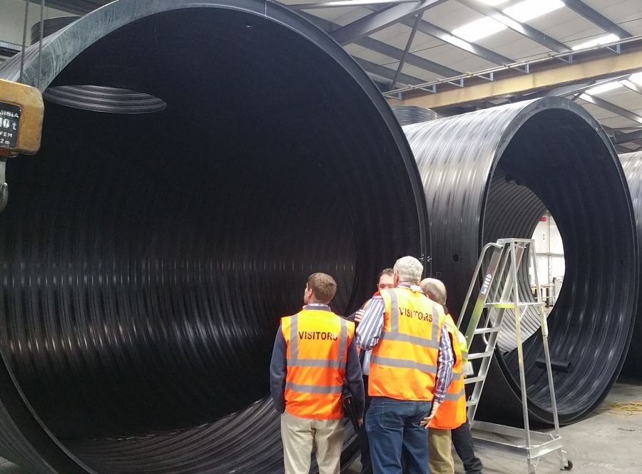 DOING MORE WITH LESS  SAPPMA HIGHLIGHTS THE FINANCIAL & ENVIRONMENTAL BENEFITS OF USING THERMOPLASTIC PIPES