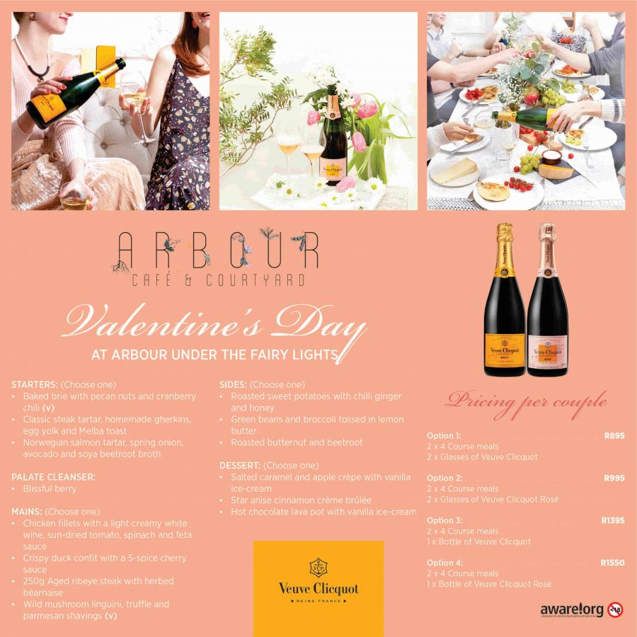 Valentine's evening under the Stars at Arbour Café