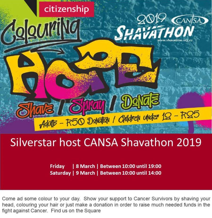 Silverstar Shavathon takes up #ColouringHope challenge