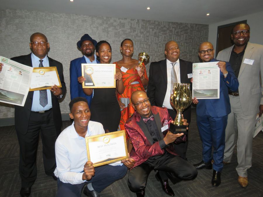 The TSRF managment team celebrates their best practice awards and the recognition it received from the Institute of Retirement Fund Africa and industry peers.