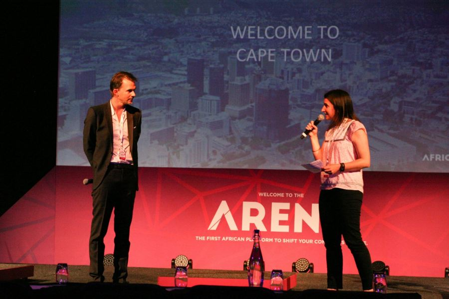 Christophe Viarnaud, CEO of AfricArena and Methys, and Kerry Petrie, General Manager of Silicon Cape