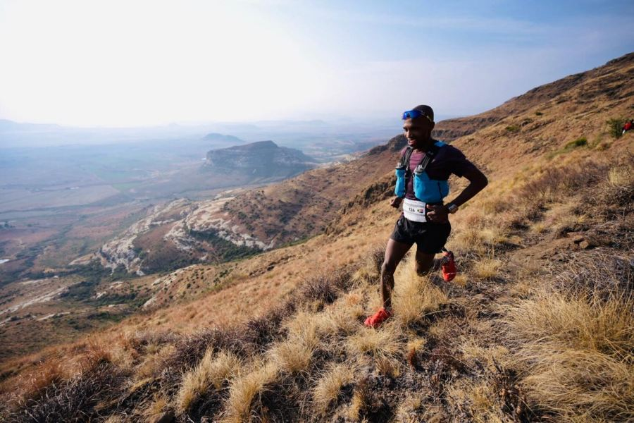 Thabang Madiba takes the win at the 4 Peaks Mountain Challenge