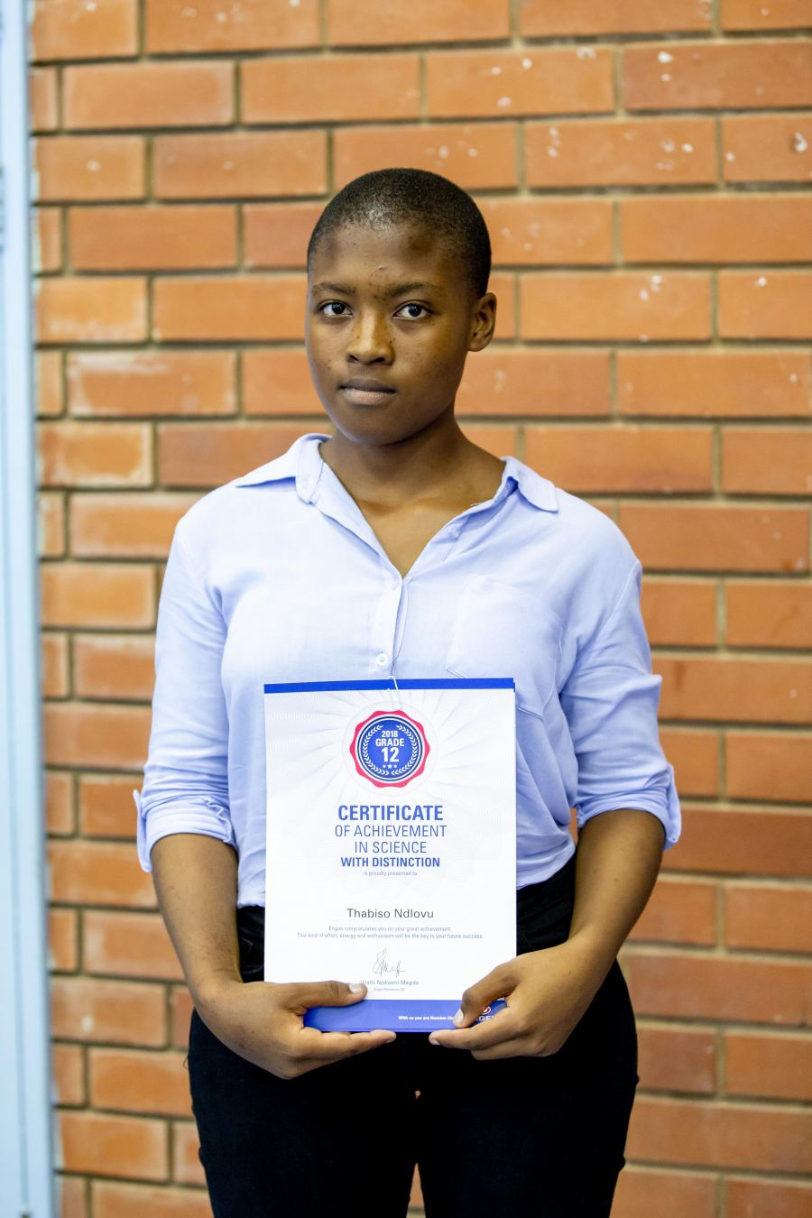 Top Engen Maths & Science School learner determined to make a difference