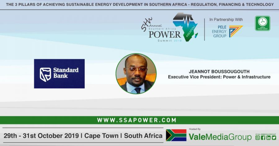 #SSAPOW19: Jeannot Boussougouth, Executive Vice President: #Power & #Infrastructure, Standard Bank Group joins the VIP delegation