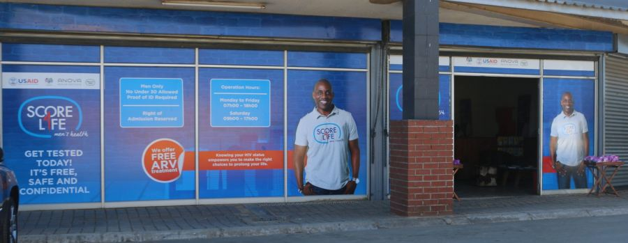 Anova Health has opened three clearly marked Score4Life pop-up stores, where men are invited to get tested for HIV and know their status, in Diepsloot, Roodepoort and Kliptown.