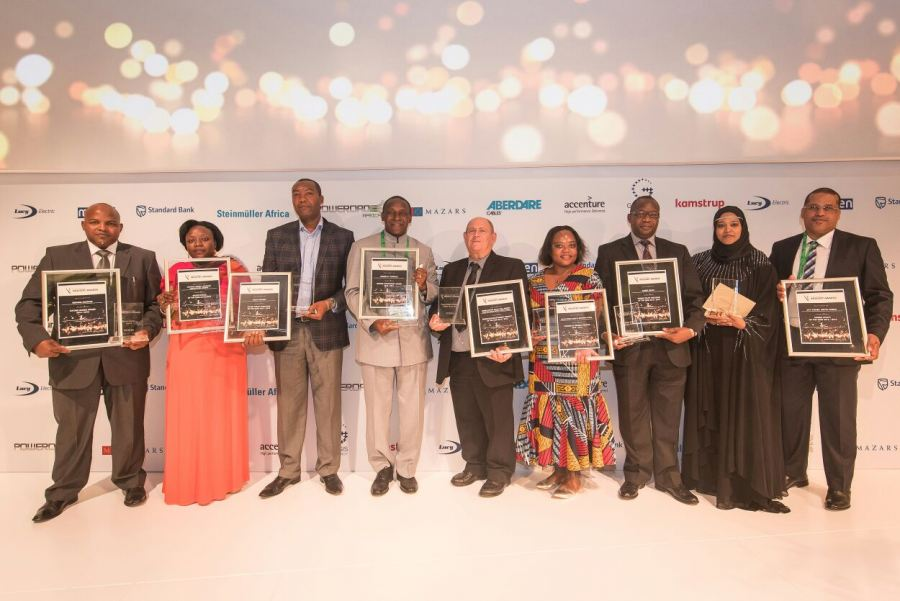Last year's winners of the African Utility Week Industry Awards.