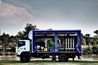 Veolia engineers four truck-mounted potable water treatment plants for the Kingdom of Lesotho