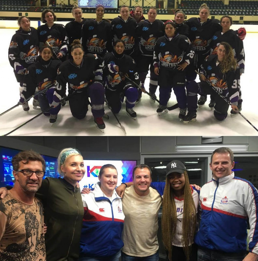 KFM Breakfast on ice with Western Province Ladies Ice Hockey Team!!