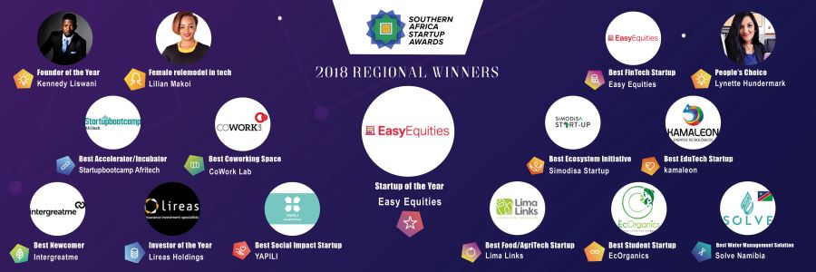 Southern Africa Startup Awards 2018 Winners
